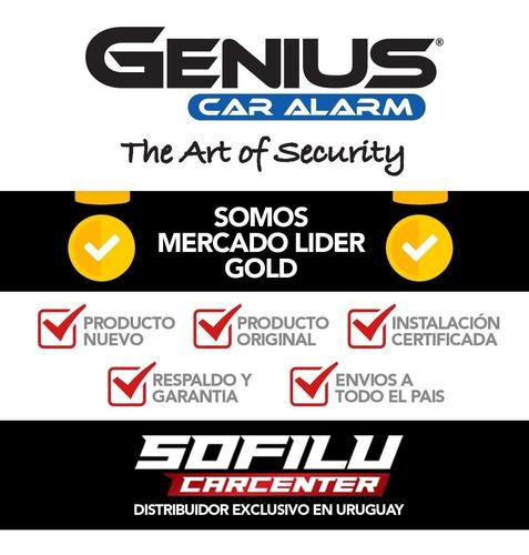 alarma auto genius sensor shock + 2 bloqueos