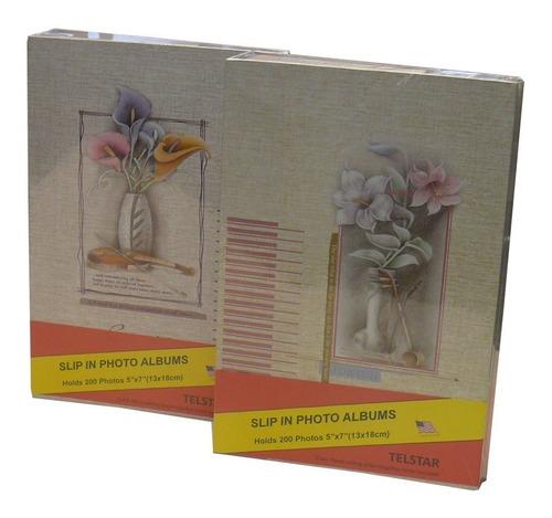 album de 200 fotos de tamaño 13 x 18 cms. con flores