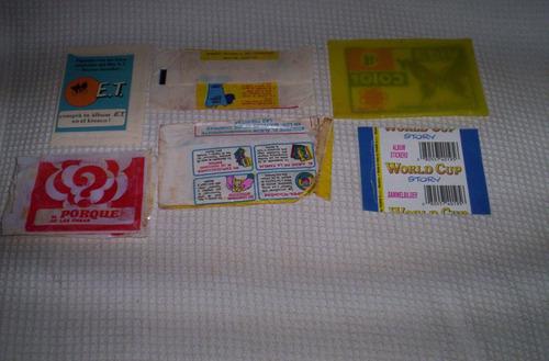 albumes diversos..sobres de figuritas vacios..leer..