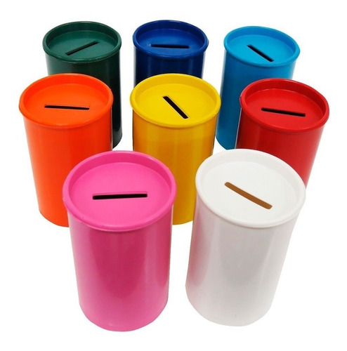 alcancias plástico sin personalizar varios colores