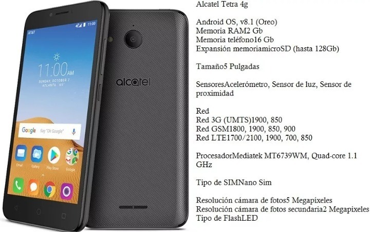 Alcatel 5041c Tetra 16gb Memoria Int