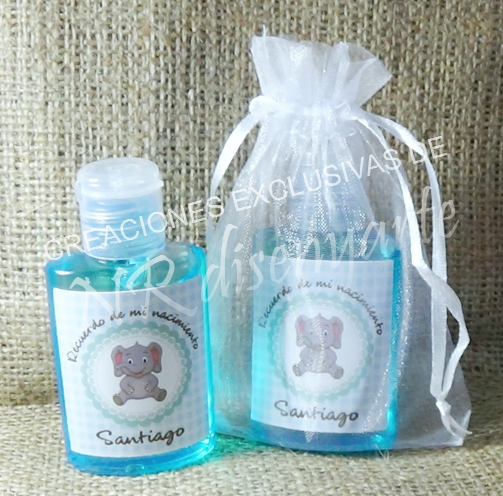 Alcohol En Gel Souvenir Nacimiento Baby Shower Etc 10 X ...