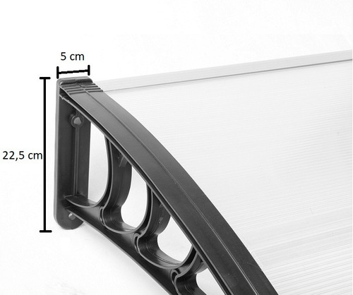alero policarbonato bronce 1 x 0,8 m techo ahumado toldo 100