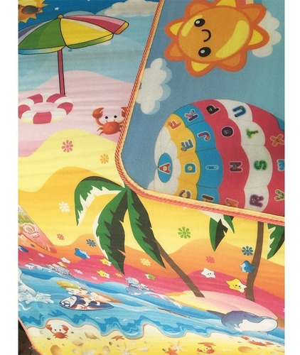 alfombra anti golpes infantil 180x200x1 cm oferta imperdible