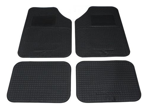 alfombra de autos 64 x 44 / 44 x 34 negra juego de pvc