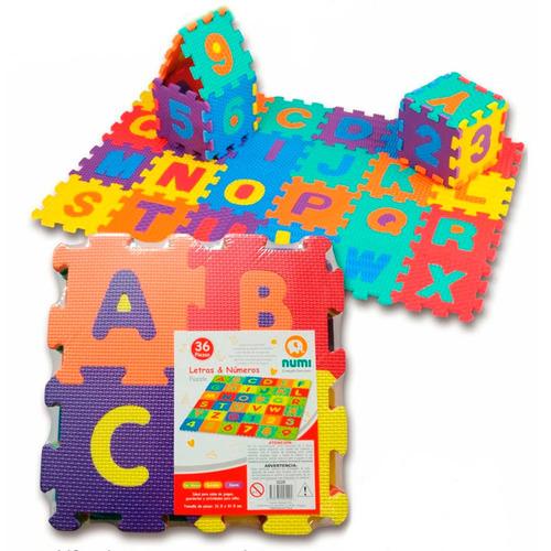 alfombra de goma eva numeros y letras - numi