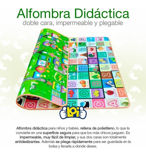 alfombra didáctica infantil plegable 180x120cm oferta loi