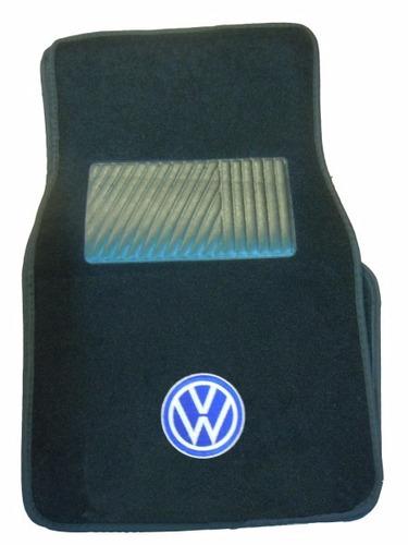 alfombras fieltro logo vw volkswagen juego 4 piezas - cymaco