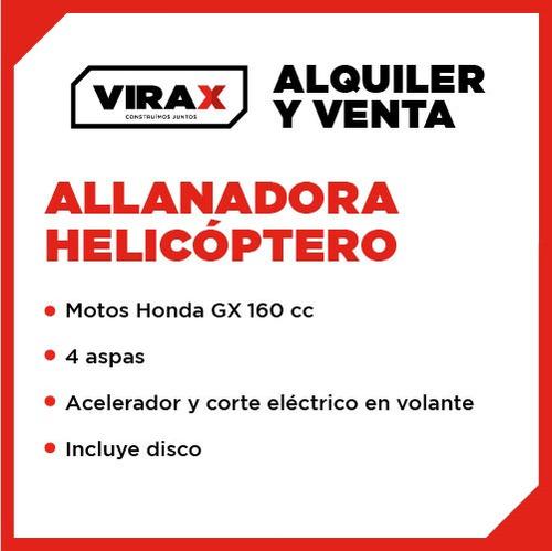 allanadora, helicóptero, pulidora alquiler, venta, virax