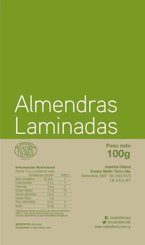 almendras laminadas madre tierra 100g