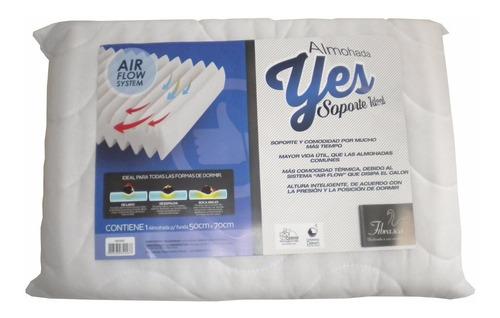 almohada espuma alta densidad soporte firme airflow