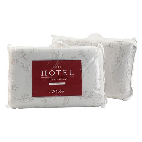 almohadas elite hotel visco standard pack x2 sommiercenter