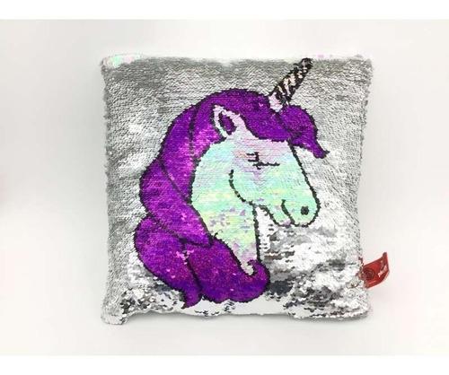 almohadon de lentejuelas reversibles de unicornio