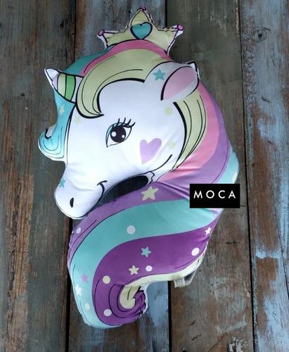 almohadón de unicornio c/relleno niñas niños living o cama