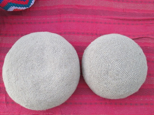 almohadon, puff, tatami, fibra natural 50 cm