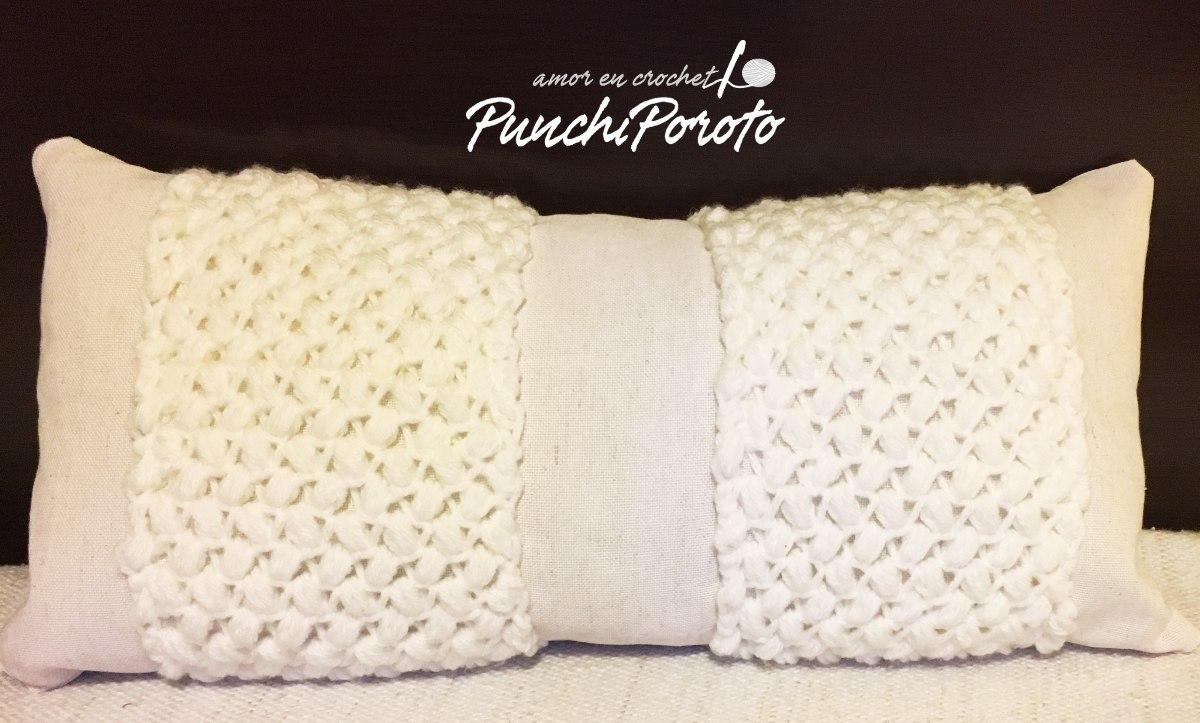Almohadón Tejido A Crochet 50x25 Cm - Lana!!! - $ 430,00 en Mercado ...
