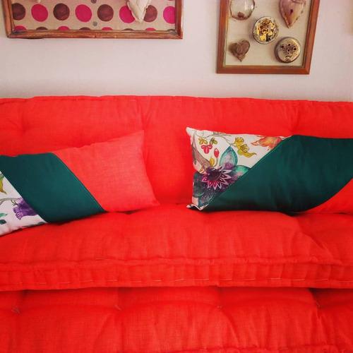 almohadones a medida tela a eleccion colchon tatami