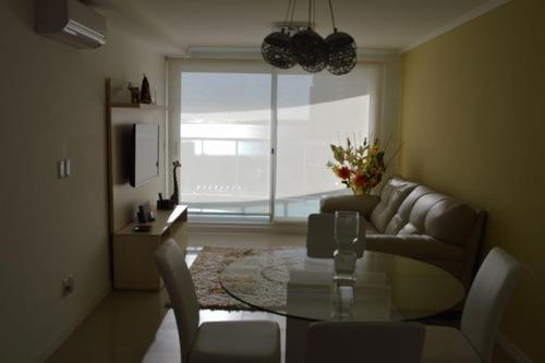 alquiler 2 dormit en suite con vista al mar, playa mansa