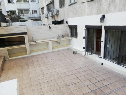 alquiler apartamento con patio 3 dormitorios ,serv. pocitos