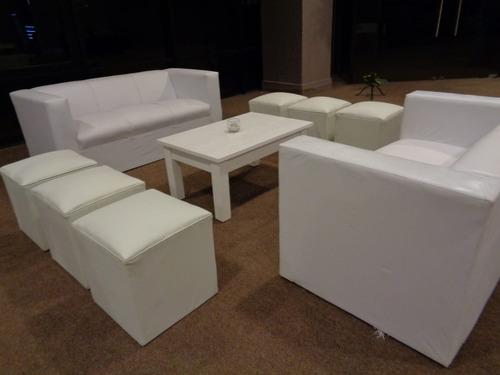 alquiler carpa gazebo mesas sillas madera pvc madera puff