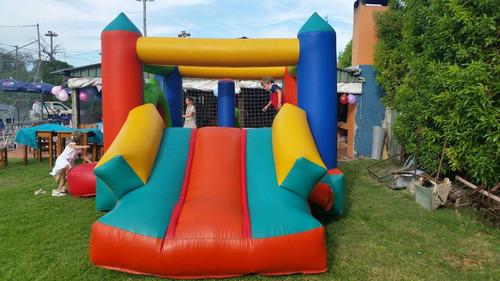 alquiler castillo inflable ,cama elastica , musica , algodón