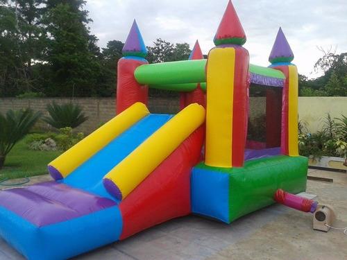 alquiler  castillo inflable, metegol, tejo y plaza blanda