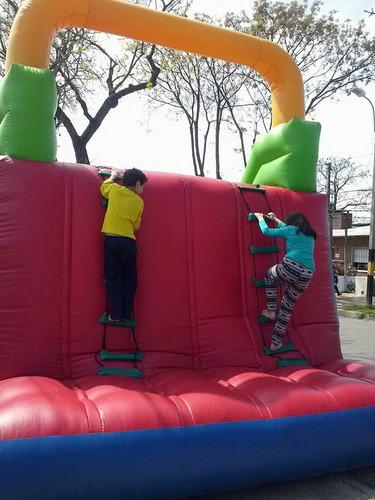 alquiler castillo inflable pelotero escalador cama algodón