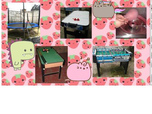 alquiler castillo,cama elastica,algodon,futbolito,ping pong