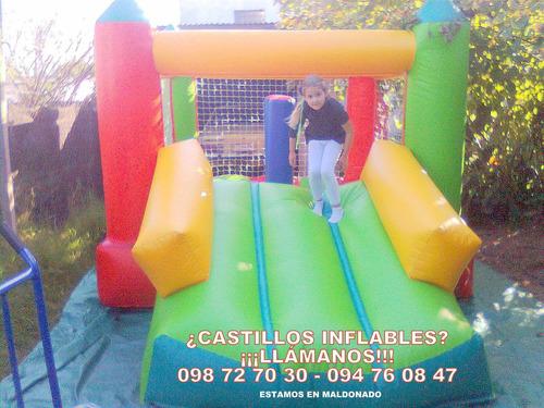 alquiler castillos inflables, camas elásticas, pop, algodón