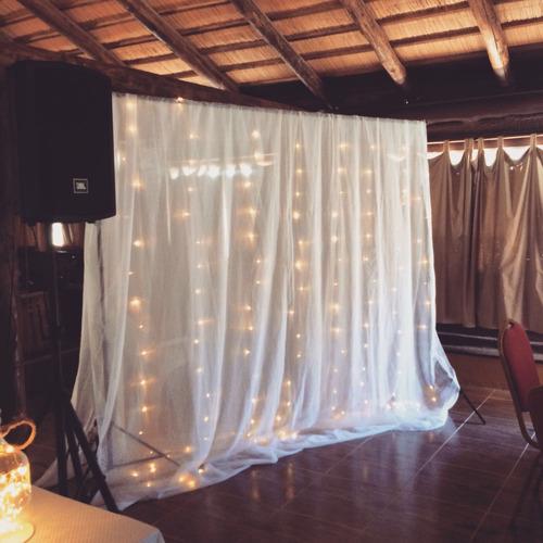 alquiler cortina de luces led