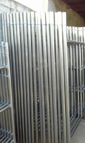 alquiler de andamios tubulares en acero inoxidable
