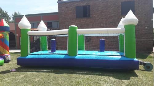 alquiler de castillo inflable cama elástica copos y futbolit
