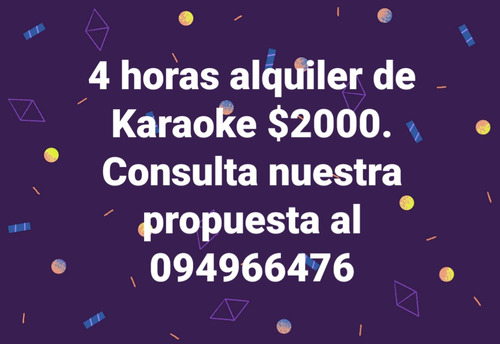 alquiler de karaoke / vale music