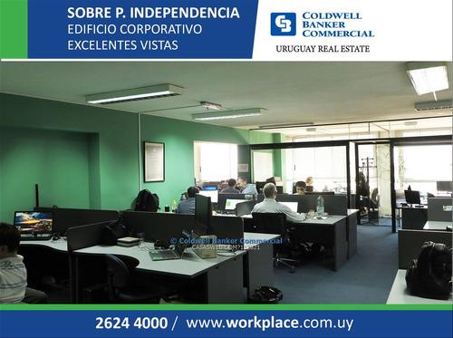 alquiler de oficina - plaza independencia - oportunidad!