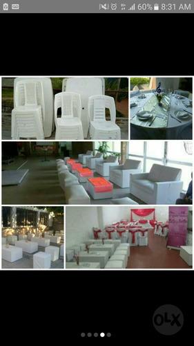 alquiler de sillas, mesas, puff y mucho mas!