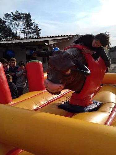 alquiler de toro mecanico ,inflables,rampas ,camas, algodon