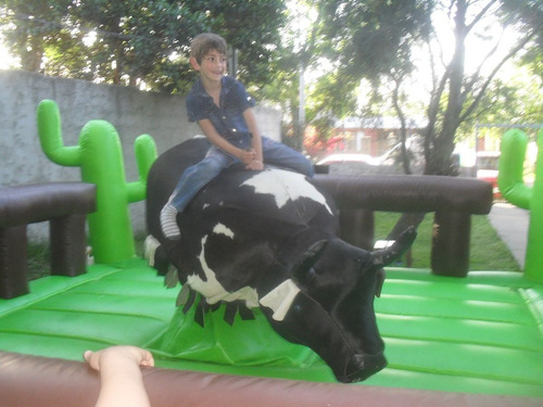 alquiler de toro mecanico,inflables,cama elast,copos !!!