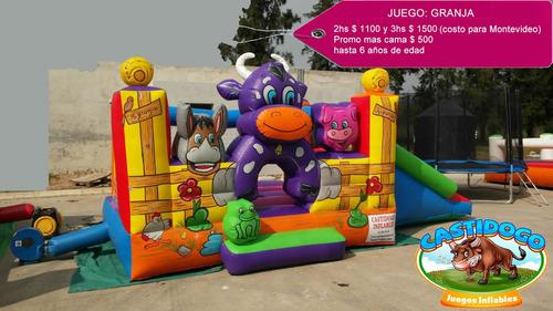 alquiler juegos inflables,toro mecanico,cama,algodón