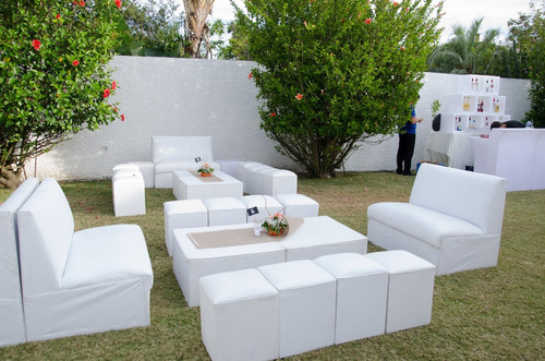 alquiler living,puff led,sillones, inflables para grandes