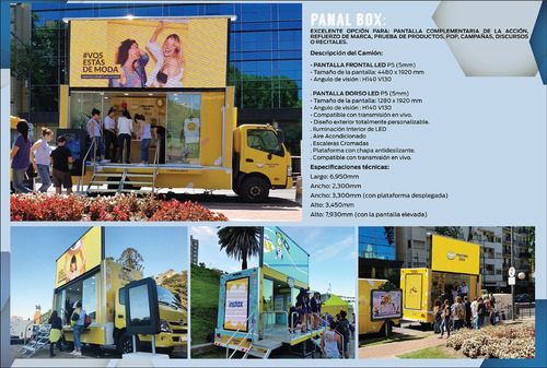 alquiler pantalla led móvil trailers camion y camionetas
