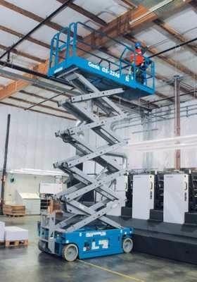 alquiler plataforma elevadora tijera 10 m altura con mando