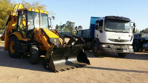 alquiler retroexcavadora,camion volcadora relleno materiales