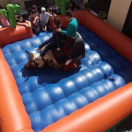 alquiler toro mecanico, inflables,cama elàstica,algodón pop