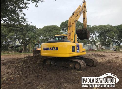 alquiler - trabajos con excavadoras y retroexcavadoras