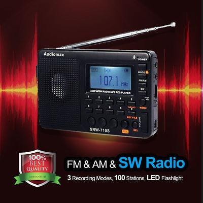 am/fm/sw mundo banda radio digital portátil receptor reprodu