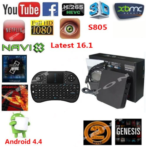 Amlogic S805 Quad-core Wifi Android 4 4 1080p 8 Gb Dlna Smar
