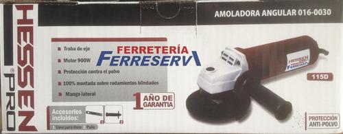 amoladora angular hessen pro 4½ 900w anti polvo 1año gtia