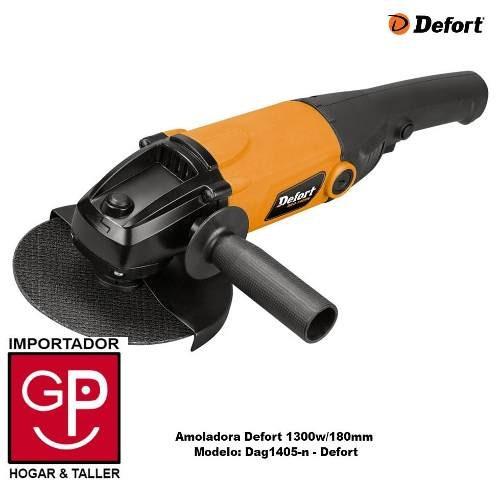 amoladora defort 1300w/180mm dag1405-n