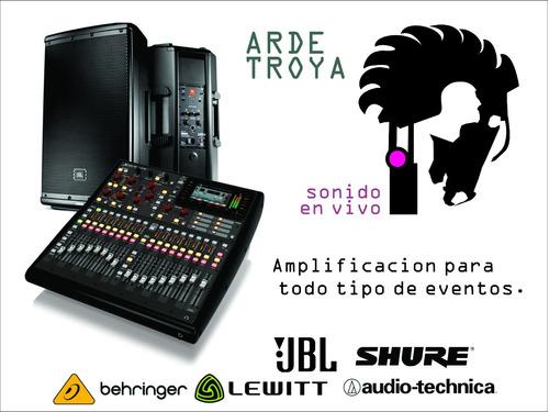 amplificación eventos grabación y sonido en vivo / sonidista