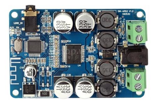 amplificador estereo bluetooth y aux - 25+25w rms tda7492p